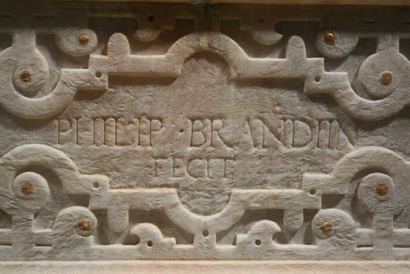 Abb. 3: Güstrow, Dom, Inschrift des Phillipp Brandin am Dorotheenepitaph