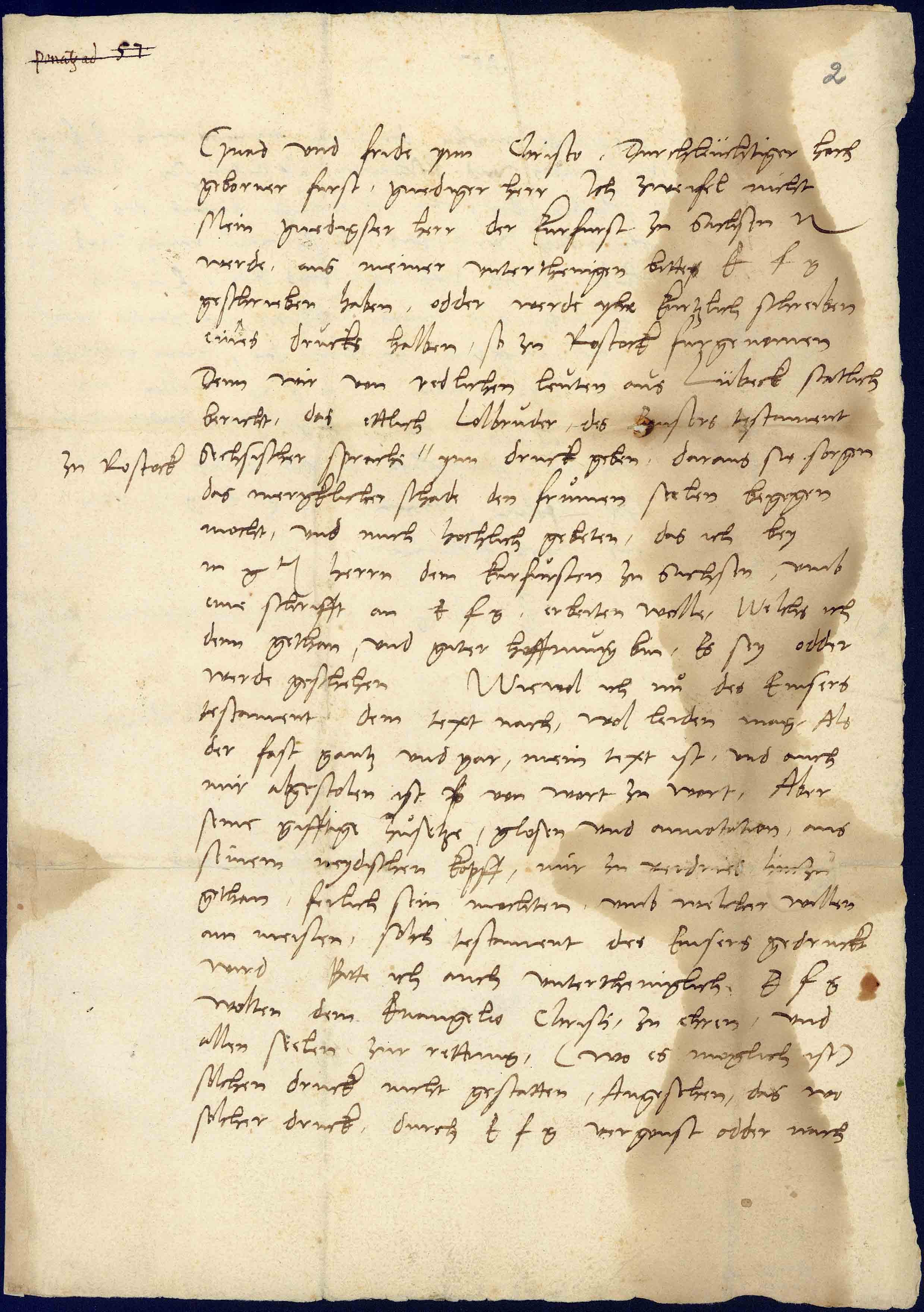 Brief Von Martin Luther