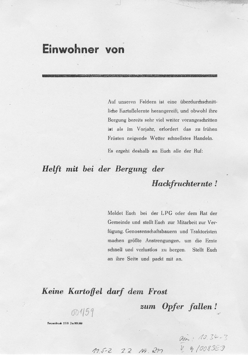 Flugblatt September 1959