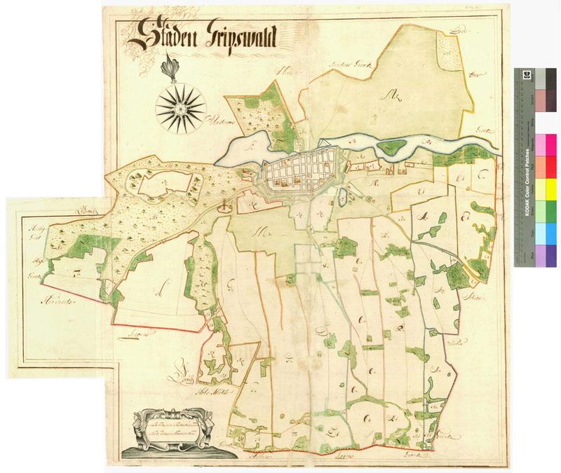 Greifswald Karte.Karten Und Texte Der Schwedischen Landesaufnahmen Von Pommern 1692