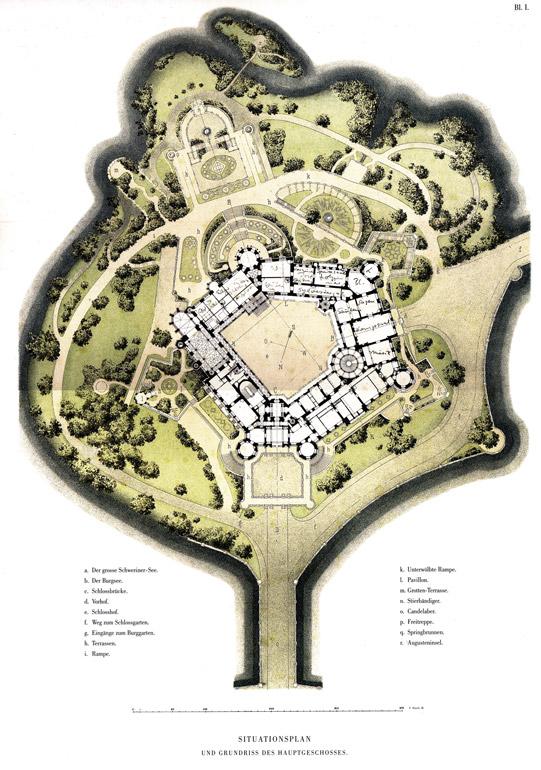 Was Wäre Das Schloss Schwerin Ohne Den Burg Garten Und Die